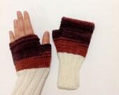 Fingerless Gloves. WintervFashion . Girls Women. Valentines Day. Love.  spring fashion . Brown   -  #01