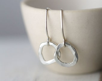 Freeform Silver Earrings - Modern Minimal Earrings - Minimalist Jewelry - Gift for Her - Bridesmaid Gift - Gift for Women