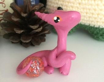 Pink and Orange Marble Dragon