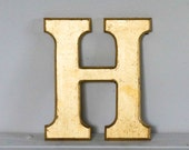Vintage Shop letter H, 24 carat gold leaf, antique signage