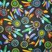 Navajo Dream Catchers Native American Bright Cotton Fabric Fat Quarter or Custom Listing