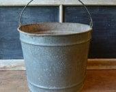 Vintage Galvanized Bucket, Vintage Minnow Bucket, Vintage Galvanized Planter, Vintage Planter, The Anglers Choice Minnow Bucket