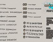 MODPawed Font List