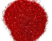 Fine Red Craft Glitter 0.008 Hex - 1 Fl. Ounce for Glitter Crafts
