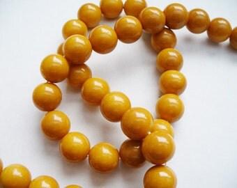 Glass  Beads Caramel Round 10MM