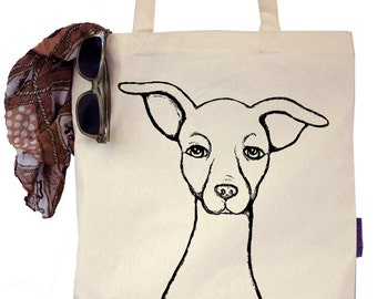 Frisbee the Italian Greyhound - Eco-Friendly Tote Bag