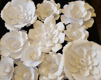Large White Paper Flowers Extra Large Paper Flower 4ft x 4 ft Photo Prop Backdrop Decor DIY Backdrop Special