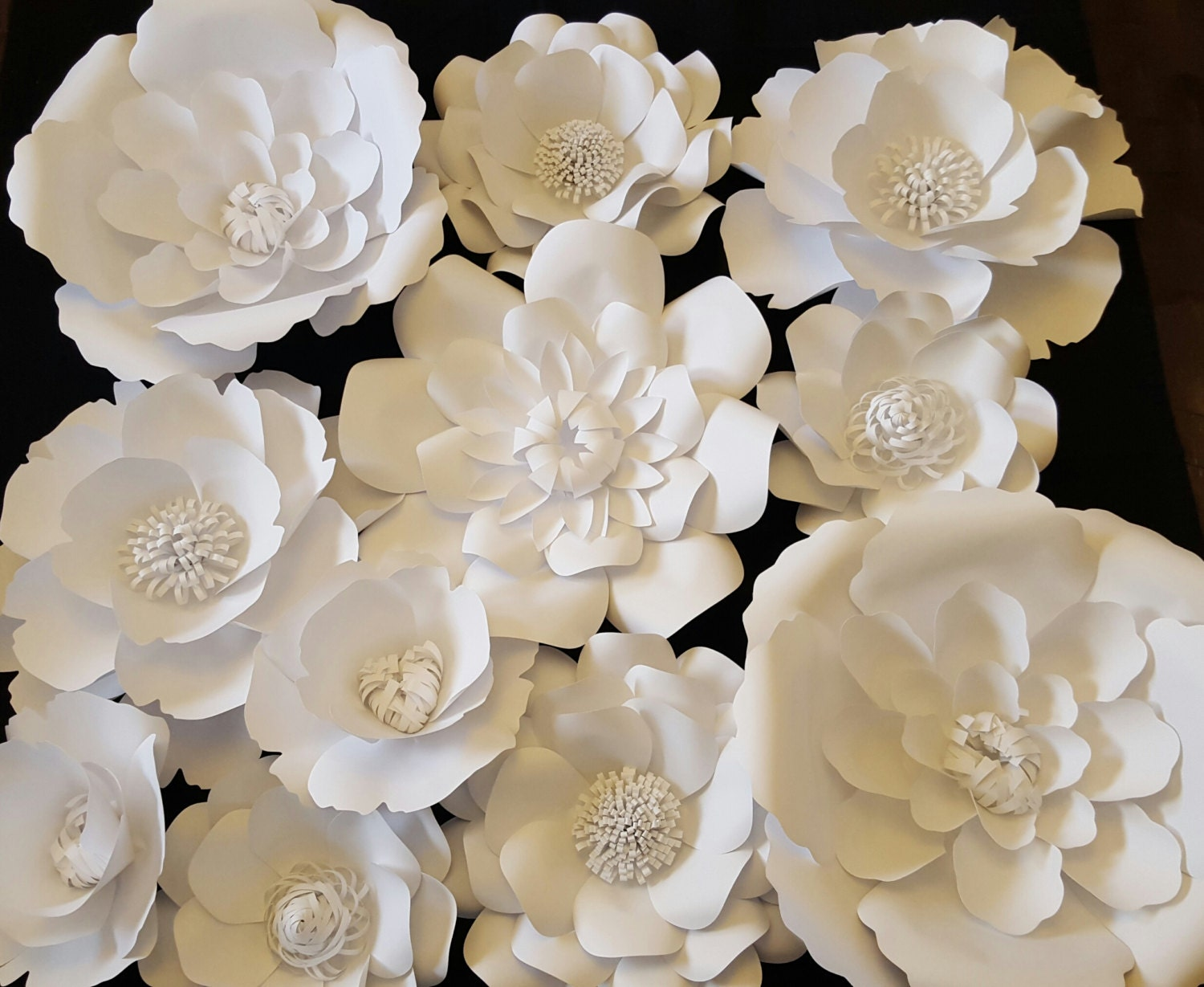 Large white paper flowers extra large paper flower 3ft x 3 ft zoom dhlflorist Choice Image