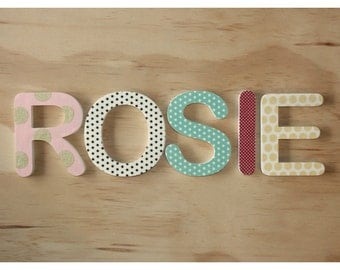 100mm by 9mm - 4 Wooden letters