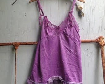 lilac allure babydoll grape boho violet purple gypsy beach Eco Friendly Bohemian boho bridesmaid gift lace Gift for Her top cami