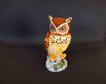 Vintage Andrea Owl, Andrea Decor, Andrea Figurine, Owl Figurine, Andrea by Sadek, Made in Japan, Collectible Figurine, Home Decor