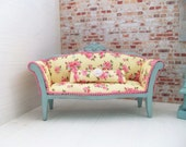 Doll House Miniature Sofa....french country chic...OOAK