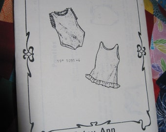 "Vintage PASTY ANN 19"" Doll Pattern #1091-4 SunDress & Pantie ..will also fit other dolls..Fashions to Fit..Reproduction....Never Used...#170"