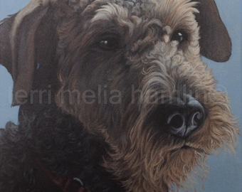 Dog Portrait, 9x12, Pet Portrait, Custom Pet Portrait, Painted Pet Portraits, Dog Portrait Custom, Acrylic Painted Portrait
