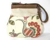 Crazy Ol' Bird Cross Body / Shoulder Bag, Upholstery Fabrics
