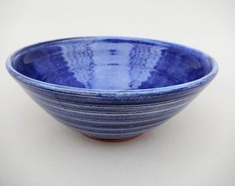 Cobalt Blue Pottery Bowl