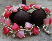 Sweet Heart - 1960s Moonglow And Crystal Bracelet