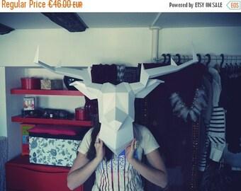 SOLDES/ON SALE White Foldeer - Deer Head Paperboy