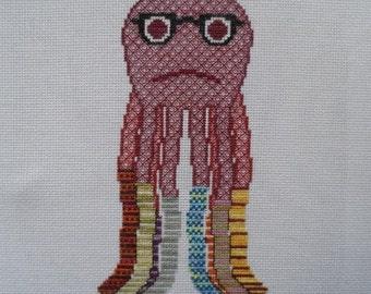 Socktopus Cross-Stitch Pattern