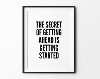 The Secret Print, quote poster, typography art, home decor, words, mottos, inspirational, minimalist, motivational
