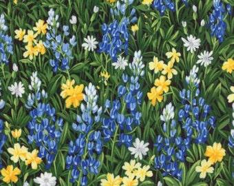Wildflowers VI by Sentimental Studios - Floral Field Of Flowers - Blue/Yellow - Moda 32810 13