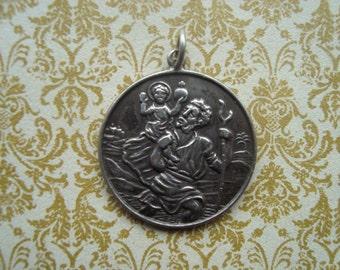 Vintage St Christopher Medal