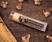 Lip Balm Natural BANANA BREAD Organic Banana + Walnut .15 oz Baking