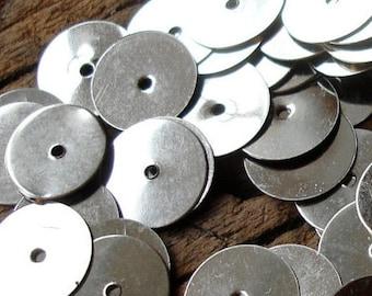 "600 x silver colour sequin Moroccan metal disc handira wedding blanket disc paillettes  78 g  10 mm or 0.4"""