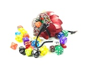 Dungeons & Dragons Red Dice Bag Scalemaille And Chainmaille Aluminum - SDB-S-R