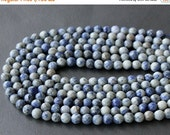 CLEARANCE SALE - Sodalite Faceted Round Beads 8mm FULL Strand (15 Inches)