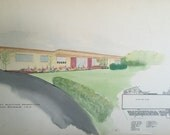Mid Century Modern Student Architectural Drawings
