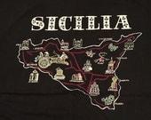 Vintage Sicilia Black T-shirt