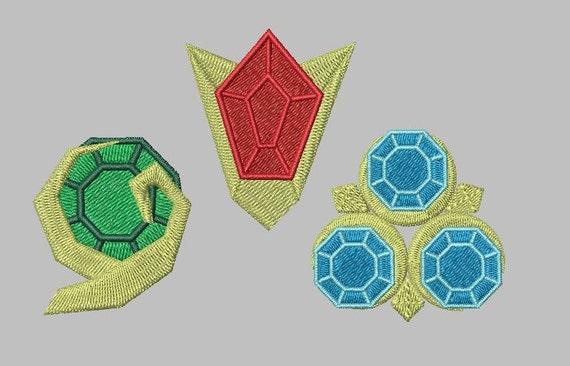 Zelda Machine Embroidery Design Ocarina Gems By BagLadyGreats
