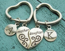mothers day gift, mother daughter gift, mothers day from daughter, gift for mom, daughter gift from mom on wedding day, mother keychain set