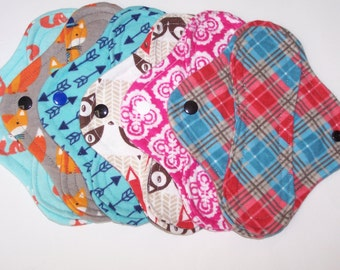 Set of 6  panty liners with wings 8 inches