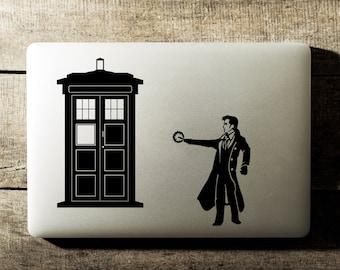 Doctor Who Tardis David Tennant Laptop Decal iPad
