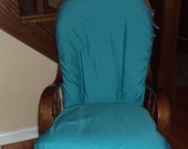 Glider Rocker Slip Cover for your Cushions- TURQUOISE Cotton Fabric or PICK from other choices