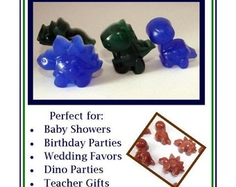 Set of 30 Mini Dinosaur Party Favor, Dino Party Favor, Dinosaur Baby Shower Favors, Bulk Favors, Glycerin Soap Favors, Soap Favor