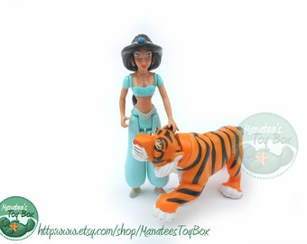 Princess Jasmine Action Figure and Rajah Tiger: 1992 from Disney's Aladdin