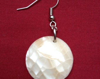 Snowball Fight: Handmade Earrings Featuring White Resin Beads