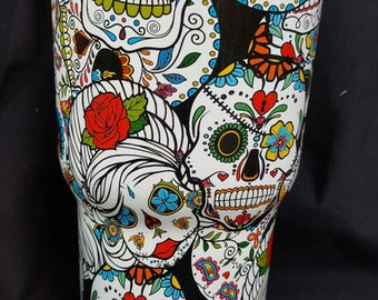 Graphic Dips By GraphicDips On Etsy - Sugar skull yeti cup