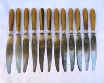 1900 12 gorgeous French antique knives cutlery knives french dinner