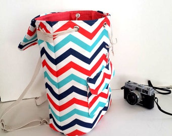 Backpack Chevron / Zigzag   Backpack, Student Backpack,travel  Backpack/Travel,School,Daily Backpack/Unisex Rucksack Valentines day gift