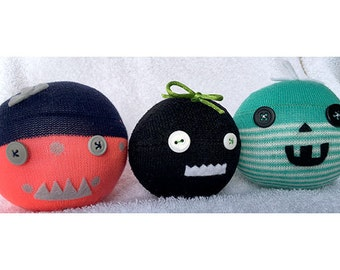 Set of Three Crazy Little Pumpkins