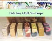 SALE Pick Any 4 soaps for 20 dollars - soap set, gift set, sampler set