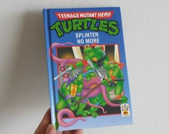 Teenage Mutant Hero Turtles Notebook handmade from a vintage Book 1980s