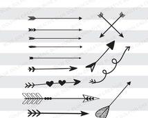 Arrows SVG png pdf / Tribal arrows / Boho arrows / Cricut, Silhouette cutting files / Digital Cut Files / decorative arrows / elements