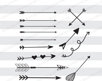 Arrows SVG png pdf / Tribal arrows / Boho arrows / Cricut, Silhouette cutting files / Digital Cut Files / decorative arrows / elements