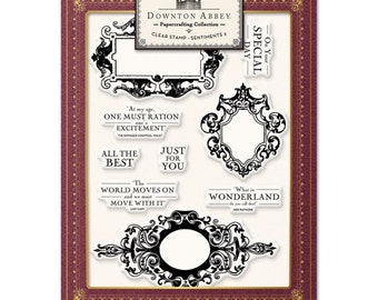 Crafters Companion Downton Abbey - Clear Stamp Sentiments 2