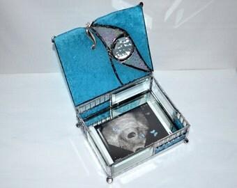 Personalized Baby Keepsake Box with Photo - Personalized - Grandparents Gift - New Parents Gift - Personalized Keepsake Box - Glass - Baby